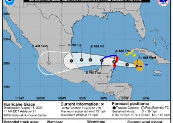 Fráfico: Centro Nacional de Huracanes (NHC).