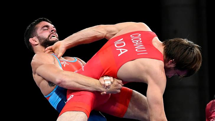 Luis Alberto Orta gave a tremendous boost to the Cuban delegation with the first gold medal at the Tokyo Games. Photo: Reuters.