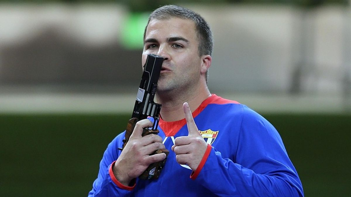 Leuris Pupo, the first Cuban Olympic champion in sports shooting. Photo: Archive.