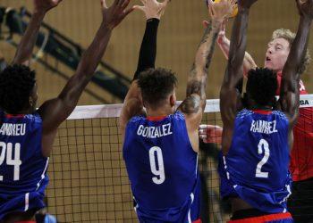 Acción del partido entre Cuba y Canadá, ganado por el equipo norteño, en el Campeonato Mundial de Voleibol Masculino Sub-21. Foto: FIVB / Jit.