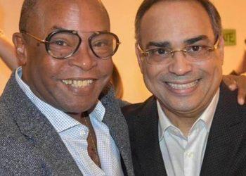 Adalberto Álvarez y Gilberto Santa Rosa. Foto: Gilberto Santa Rosa/Facebook.