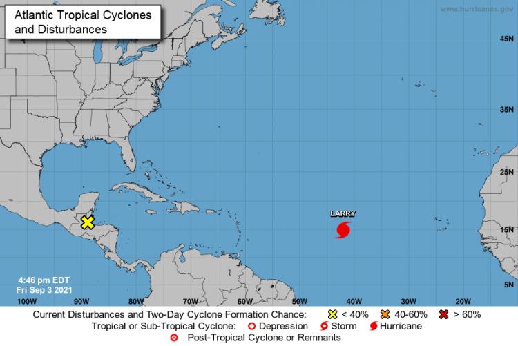 Mapa: Centro Nacional de Huracanes
