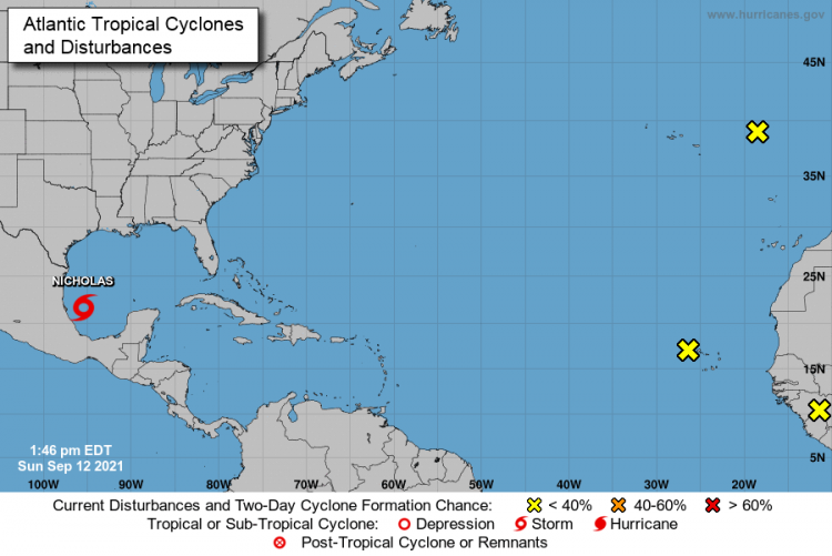Mapa: Centro Nacional de Huracanes, EE.UU.