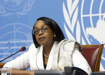 Imagen de archivo de Matshidiso Moeti, directora regional de la OMS para África. Foto: @povonewstv / Twitter / Archivo.