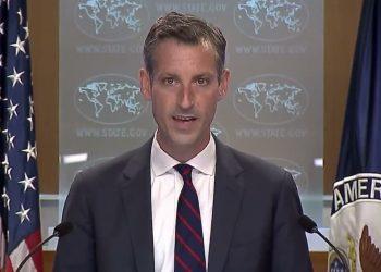 El portavoz del Departamento de Estado, Ned Price. Foto: Politico.
