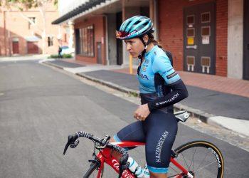 La ciclista cubana Arlenis Sierra. Foto: Twitter.