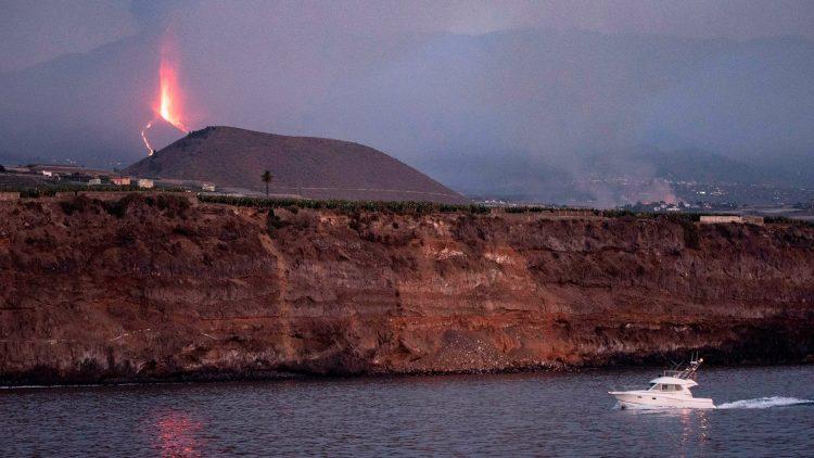 El Cumbre Vieja, en La Palma, Islas Canarias. Foto: Yahoo.