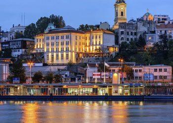 Una imagen de Belgrado, la capital de Serbia, bañada por el río Danubio. | Foto: Getty