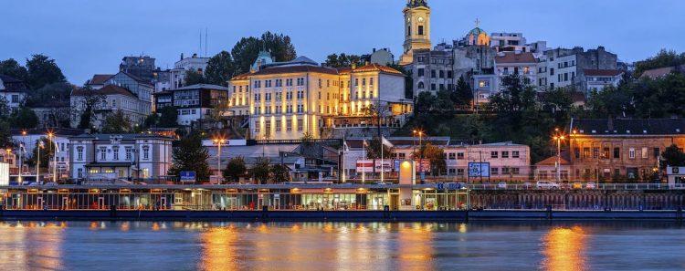 Una imagen de Belgrado, la capital de Serbia, bañada por el río Danubio.   Foto: Getty