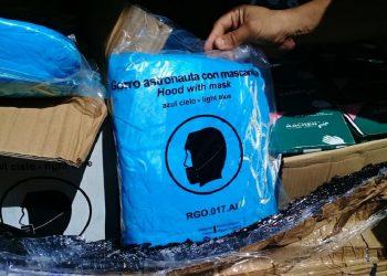 Materiales recibidos por trabajadores del hospital pediátrico Norte Juan de la Cruz Martínez Maceira (Ondi), de Santiago de Cuba. Foto: perfil de Facebook de Carlos González.