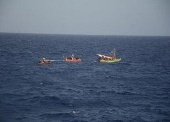 Un grupo de embarcaciones procedentes de Haití han sido interceptadas por la Guardia Costera de Estados Unidos cerca de las costas cubanas. Foto: U.S. Coast Guard
