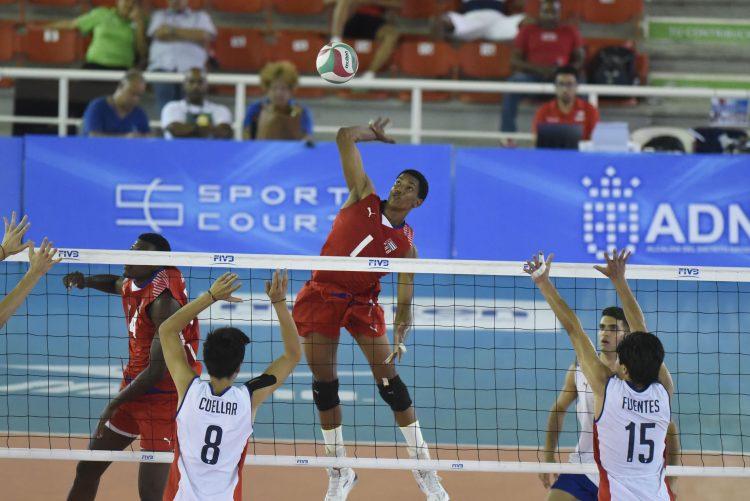 José Miguel Gutiérrez, en 2019, durante un partido contra Chile en el que Cuba disputaba su participación en el Campeonato Mundial. Foto: Norceca.