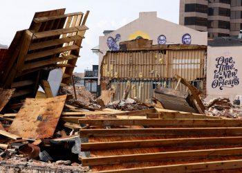 Foto: Destrozos en Nueva Orleans por Ida. Foto: Edmund D. Fountain/The New York Times