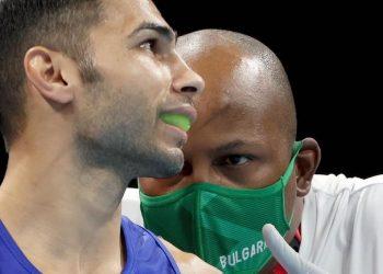 Joel Soler (derecha) en acción durante los Juegos Olímpicos de Tokio. Foto: Kostadin Andonov
