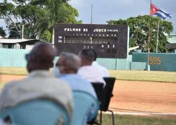 La Declaratoria de Patrimonio Cultural de la Nación del béisbol tuvo lugar este martes 19 de octubre en el mítico estadio Palmar de Junco. Foto: Tomada de ACN.