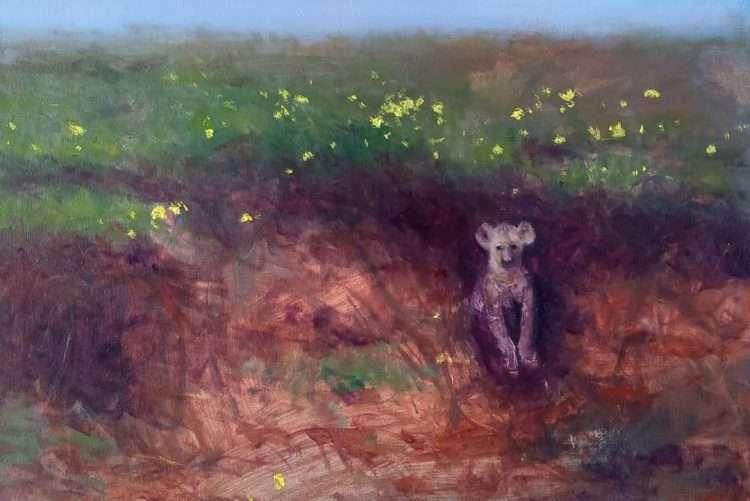 La pesca del guachi, 2020. Óleo sobre lienzo, 125 x 110 cm.
