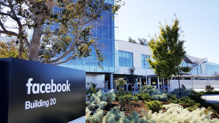 """El """"cuartel general"""" de Facebook en Menlo Park, California. Foto: FB Headquarters Office."""