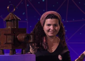 Ivette Ávila en su programa televisivo Galaxia K, dedicado al mundo de la animación. Foto: cortesía de la entrevistada.