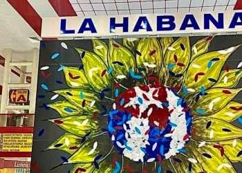 """Mural """"Cachita ampara a todos los cubanos"""", del artista cubano de la plástica Michel Mirabal. Foro: Michel Mirabal/Facebook."""
