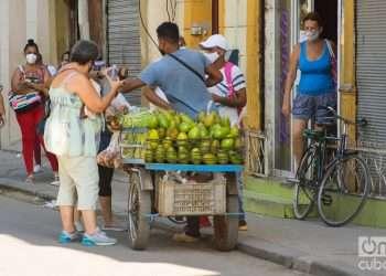 Vendedor ambulante de productos agrícolas (carretillero) en La Habana, Cuba. Foto: Otmaro Rodríguez.