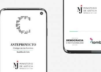 Vista de la aplicación móvil (apk) sobre el Anteproyecto del Código de las Familias en Cuba. Foto: @OscarCubaMinjus / Twitter.