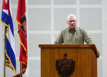 Díaz-Canel durante el II pleno del PCC. Foto: presidencia.gob.cu
