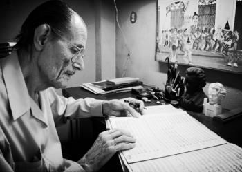 Alfredo Diez Nieto, Premio Nacional de Música 2004, falleció este domingo a los 103 años de edad. Foto: Tomada de Cubadebate.