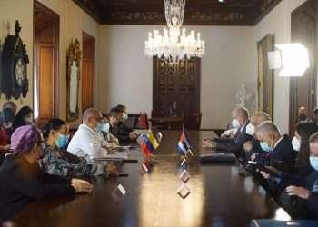 El vice primer ministro de Cuba, Ricardo Cabrisas, llegó el lunes a Caracas. Foto: mppre.gob.ve